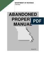 ABANDONED PROPERTY MANUAL