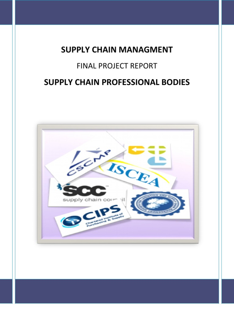 Supply Chain Professional Bodies Supply Chain Management