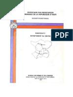 Inventaire Des Ressources Minières de la République D'Haïti (Centre)