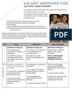 Sophia Withers 8A- Newspaper Assessment Sheet (teacher assessed)