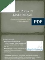 Evaluarea in Kinetologie