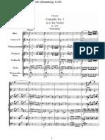 Mozart - Concerto Per Violino n 3 Partitura