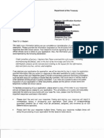 Letter from the IRS to Tea Party organizations