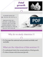 Gyenocology Seminar About Fetal Growth Assessmnet (3)