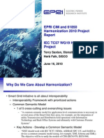 EPRI CIM and 61850 Harmonization 061610