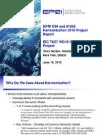 EPRI CIM and 61850 Harmonization 061610