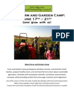Farm and Garden Camp Application