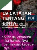 19 CATATAN TENTANG CINTA