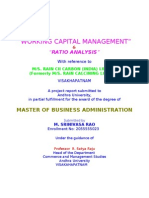 Mba-working Capital Management