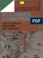 Historia Argentina Tomo 2 de La Conquista a La Independencia Assadourian y Otros Ed Paidos