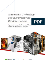 Automotive Technology and Manufacturing Readiness Levels