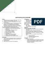 Antiphospholipid Format