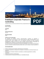 Praktikant Corporate Finance & Controlling