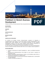 Praktikant Im Bereich Business Development