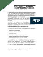 Modificaciones a La Norma Sismoresistente UBC-97