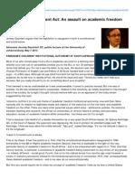 Politicsweb.co.Za-Nzimandes Amendment Act an Assault on Academic Freedom