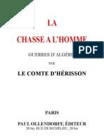 D'Irisson Maurice - La chasse … l'homme Guerre d'Alg'rie