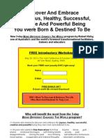 lead generation page - personal development workshop - option 2