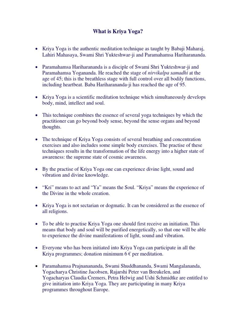 A Lesson To Kriya Yoga Pdf