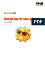 WeatherSnoop Users Guide