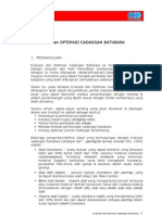 Evaluasi Dan Optimasi Cadangan Batubara
