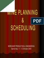 Mineplann Scheduling