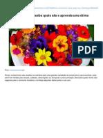 Amandocozinhar.com-Flores Comestveis Saiba Quais So e Aprenda Uma Tima Receita