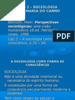 Apresentação sobre o livro - O que é Sociologia - Carlos B Martins