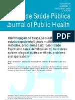 Identificação de casos psiquiátricos em estudos epidemiológicos multifásicos métodos, problemas e aplicabilidade