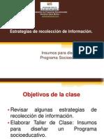 Estrategias de Recoleccion de Informacion - Magister UCSH 1o 2013