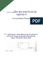 resolução dos exercicios do livro de mecanica dos fluidos - franco brunetti
