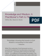 Leadership - Knowledge and Wisdom