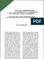 Articulo - El Canon Paulino Consideraciones en Torno a La Naturaleza Del NT