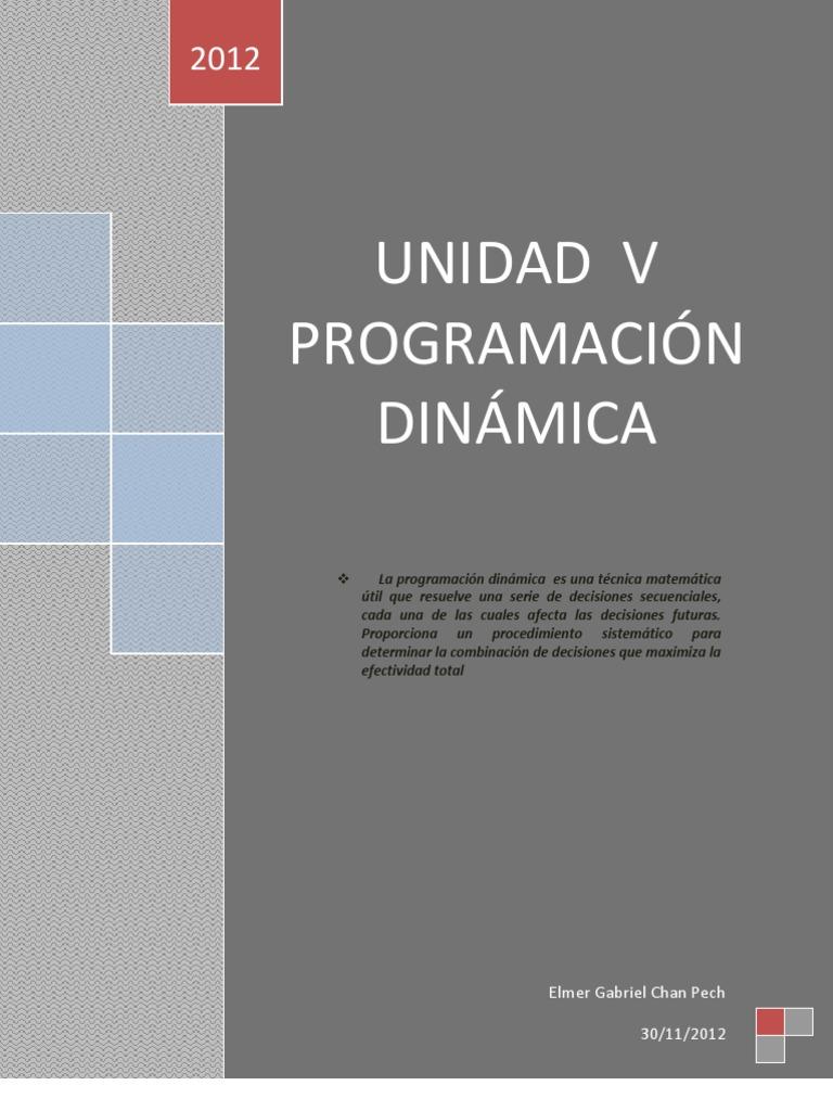 PROGRAMACIÓN DINÁMICA. FINAL | Dynamic Programming