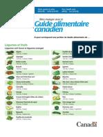Guide alimentaire, qu'est-ce qu'une portion pour chaque aliment