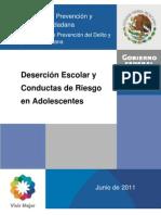 Desercio¿n escolar y conductas de riesgo