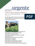 Lista de Observatórios Portugueses