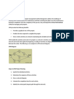 Critical Path Analysis Method