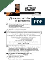 SERIE SER Y HACER DISCIPULOS 01 Que Es Ser Un Discipulo de Jesucristo