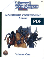 TSR 2145 Monstrous Compendium Annual Volume 1