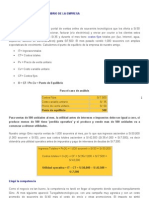 CÁLCULO DE  PUNTO DE EQUILIBRIO DE LA EMPRESA- CASO MISOUVENIR