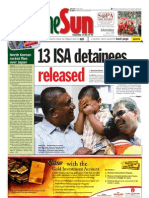 thesun 2009-04-06 page01 13 isa detainees released