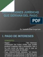 Instituciones jurídicas que derivan del pago.pptx