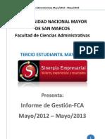 Informe de Gestion 2012-Sinergia Empresarial Fca