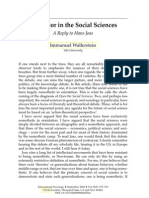Immanuel Wallerstein the Actor in the Social Science (Paper)