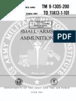 TM 9 1305 Small Arms Ammunition 1961 June