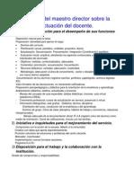 Informe Maestro director sobre actuación del docente