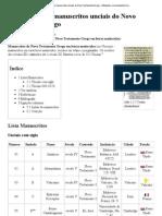 Anexo_Lista de manuscritos unciais do Novo Testamento Grego – Wikipédia, a enciclopédia livre