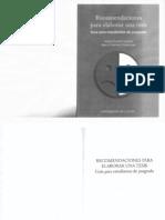 Recomendaciones Para Elaborar Una Tesis-Amparan Amaya y Martinez Sara G.