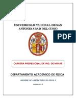 Informe de Laboratorio FISICA II -2